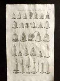 Hall 1791 Antique Print. Experiments on the Air Pump
